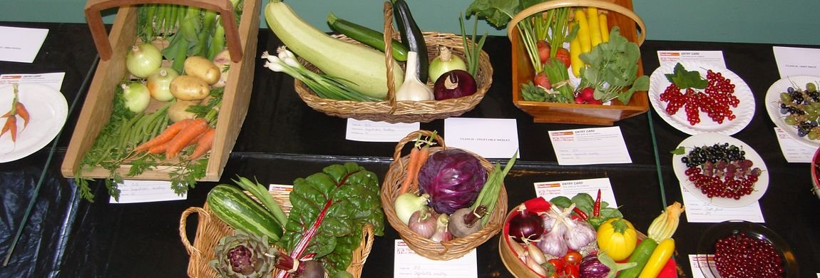Some Prize Winners of the Garden Produce at the Anuual Garden and Produce Show