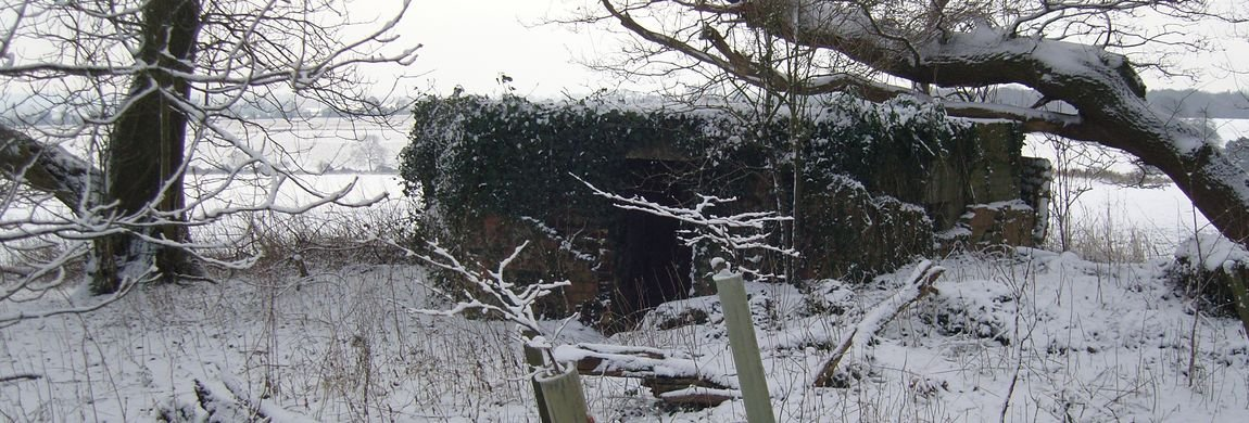Pill Box on East Dean Hill in Winter