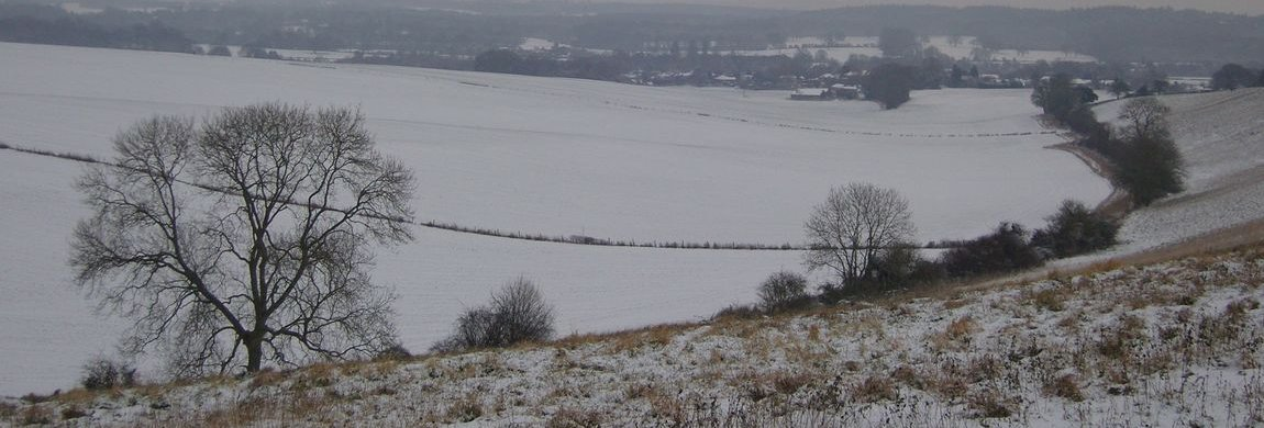 Dean Hill view in Light Snow