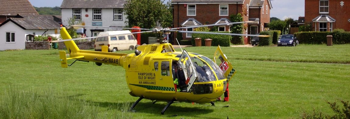 Air Ambulance Landed Lockerley Green
